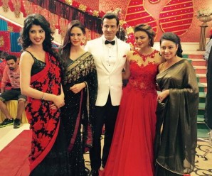ronit in nishi's sangeet